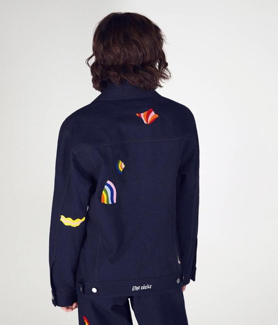 Etre Cecile Etre Cecile Wavy Shapes Oversize Denim Jacket