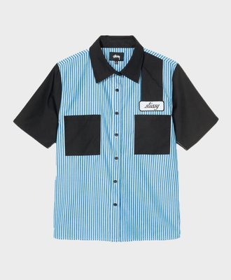 Stussy Stussy Doris Stripe Garage Shirt Blue