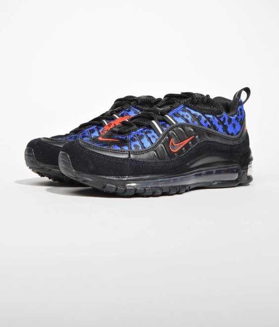 Nike Nike Air Max 98 PRM Black Habanero Red Leopard