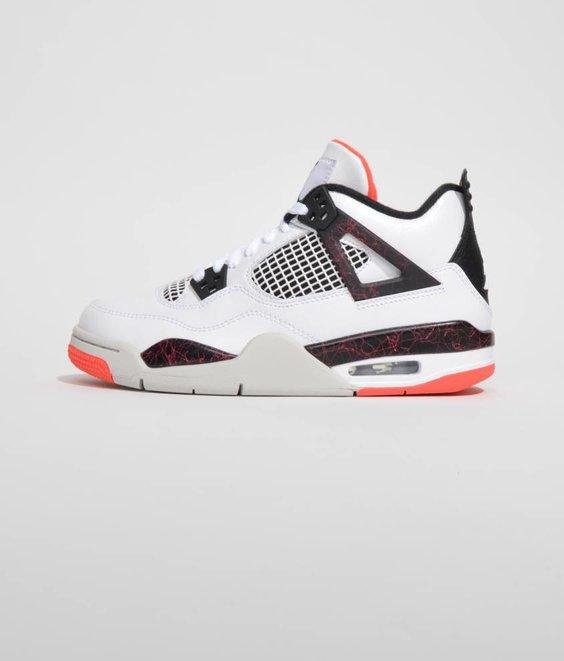 Nike Nike Air Jordan 4 Retro White Black Crimson GS