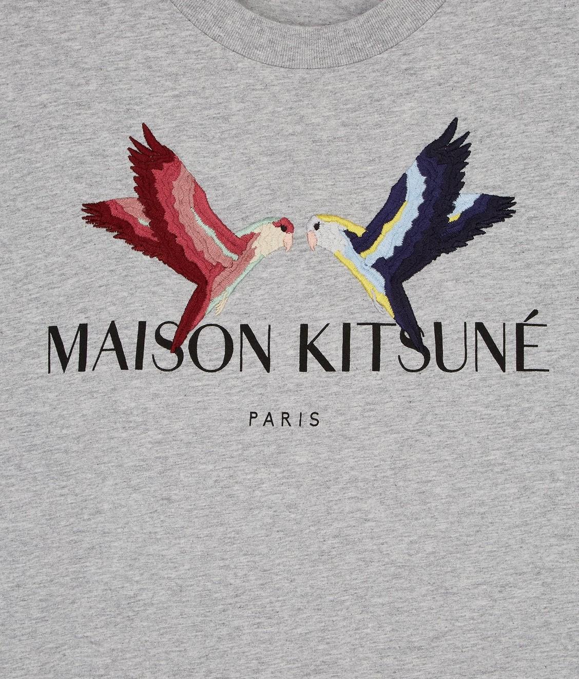 Maison Kitsune Maison Kitsune Tee Lovebird Light Grey