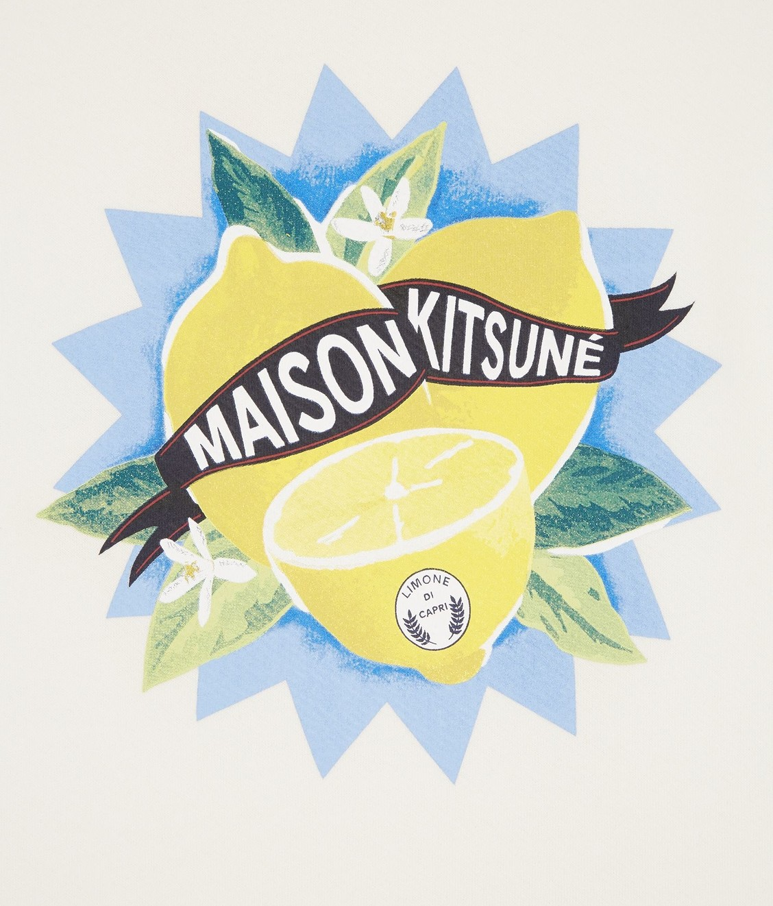 Maison Kitsune Maison Kitsune Sweat Limone Ecru
