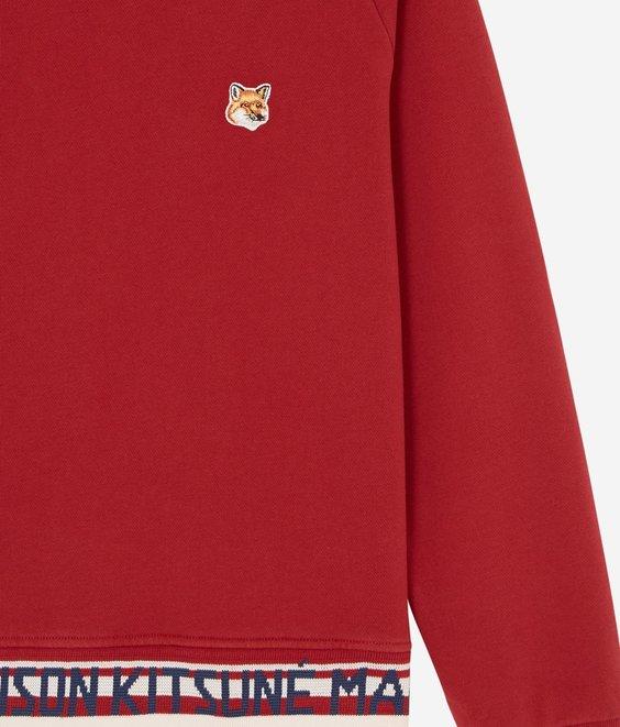 Maison Kitsune Maison Kitsune Sweat Fox Head Red