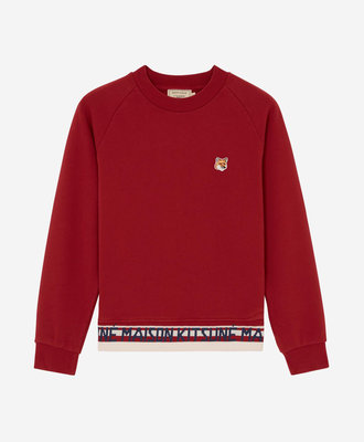 Maison Kitsune Maison Kitsune Sweat Fox Head Red
