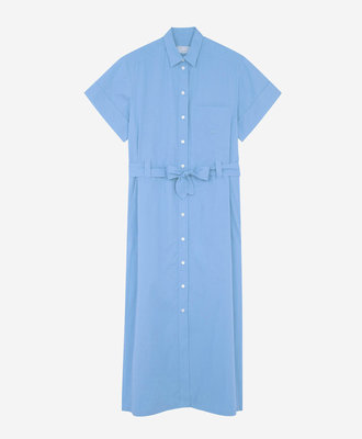 Maison Kitsune Maison Kitsune Poplin Isabella Dress Light Blue
