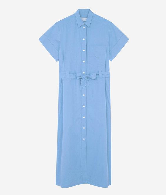 Maison Kitsune Maison Kitsune Poplin Isabella Dress Light Blue