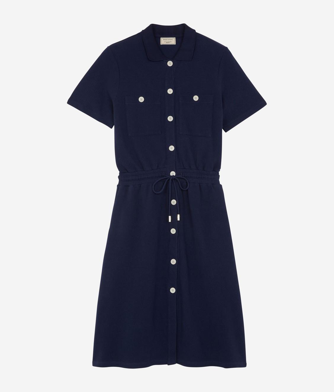 Maison Kitsune Maison Kitsune Pique Polo Dress Navy