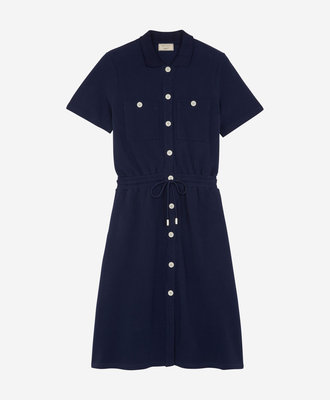 Maison Kitsune Maison Kitsune Pique Polo Dress Navy