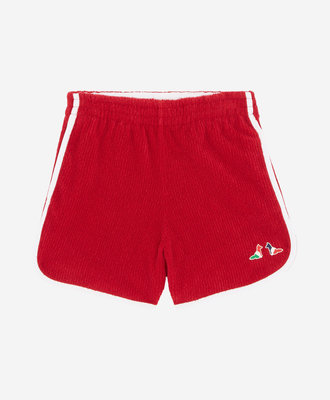 Maison Kitsune Maison Kitsune Terry Cloth Short Red