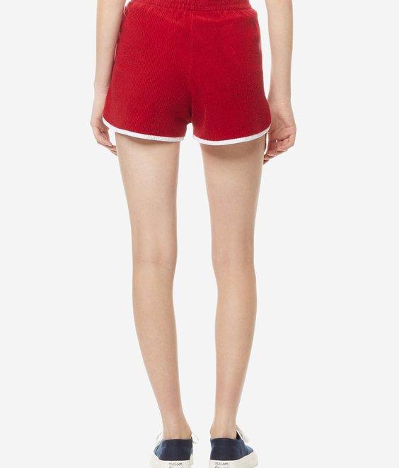 Maison Kitsune Maison Kitsune Terry Cloth Short Red