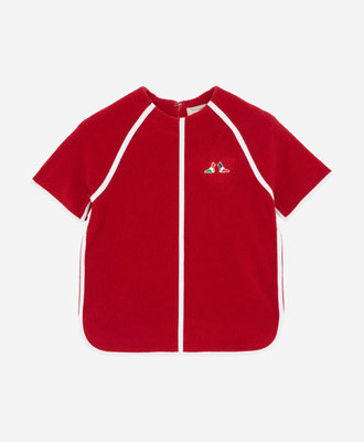 Maison Kitsune Maison Kitsune Terry Cloth Top Red