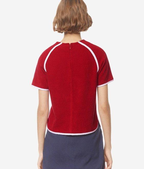 Maison Kitsune Maison Kitsune Terry Cloth Top Red