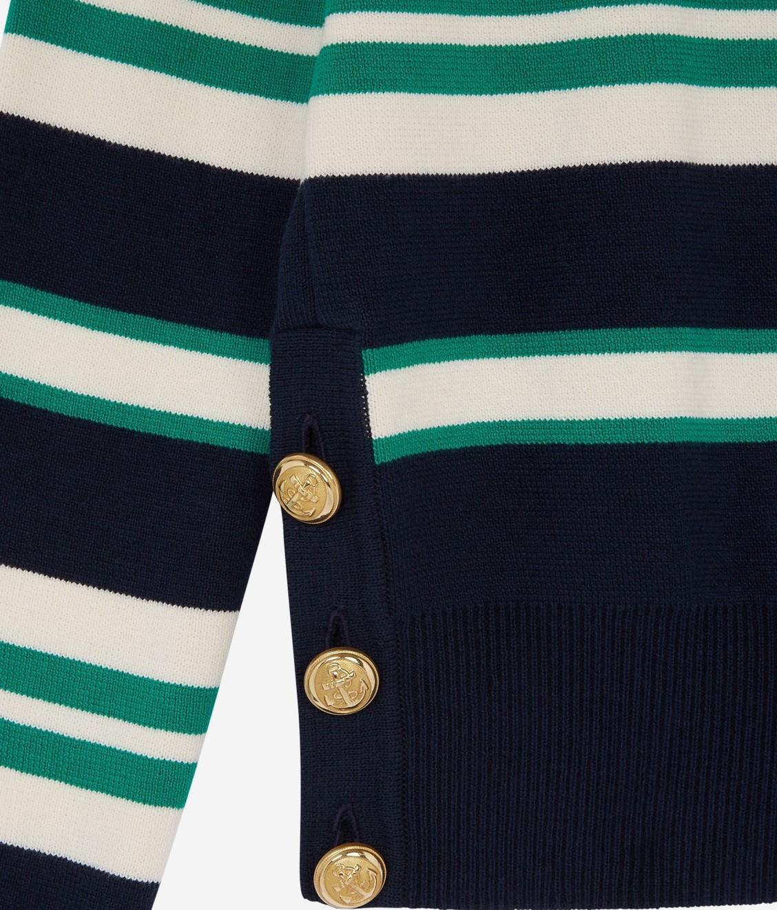 Maison Kitsune Maison Kitsune Striped Sailor Pull Navy