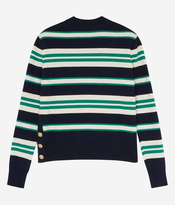 Maison Kitsune Maison Kitsune Striped Sailor Pull Navy