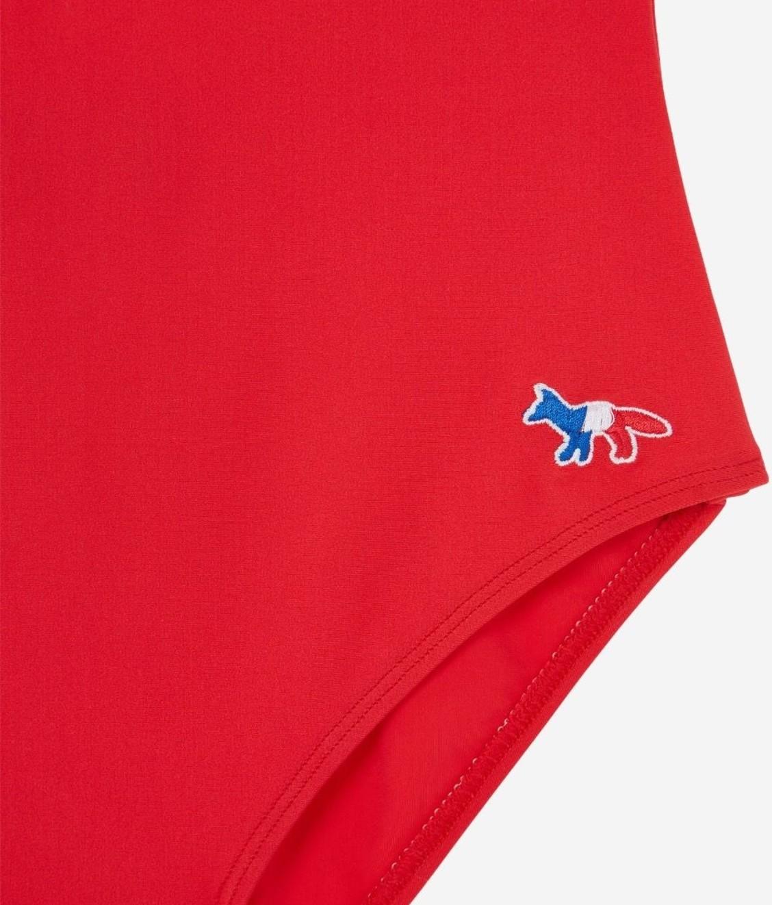 Maison Kitsune Maison Kitsune Tricolor Fox Onepiece Red