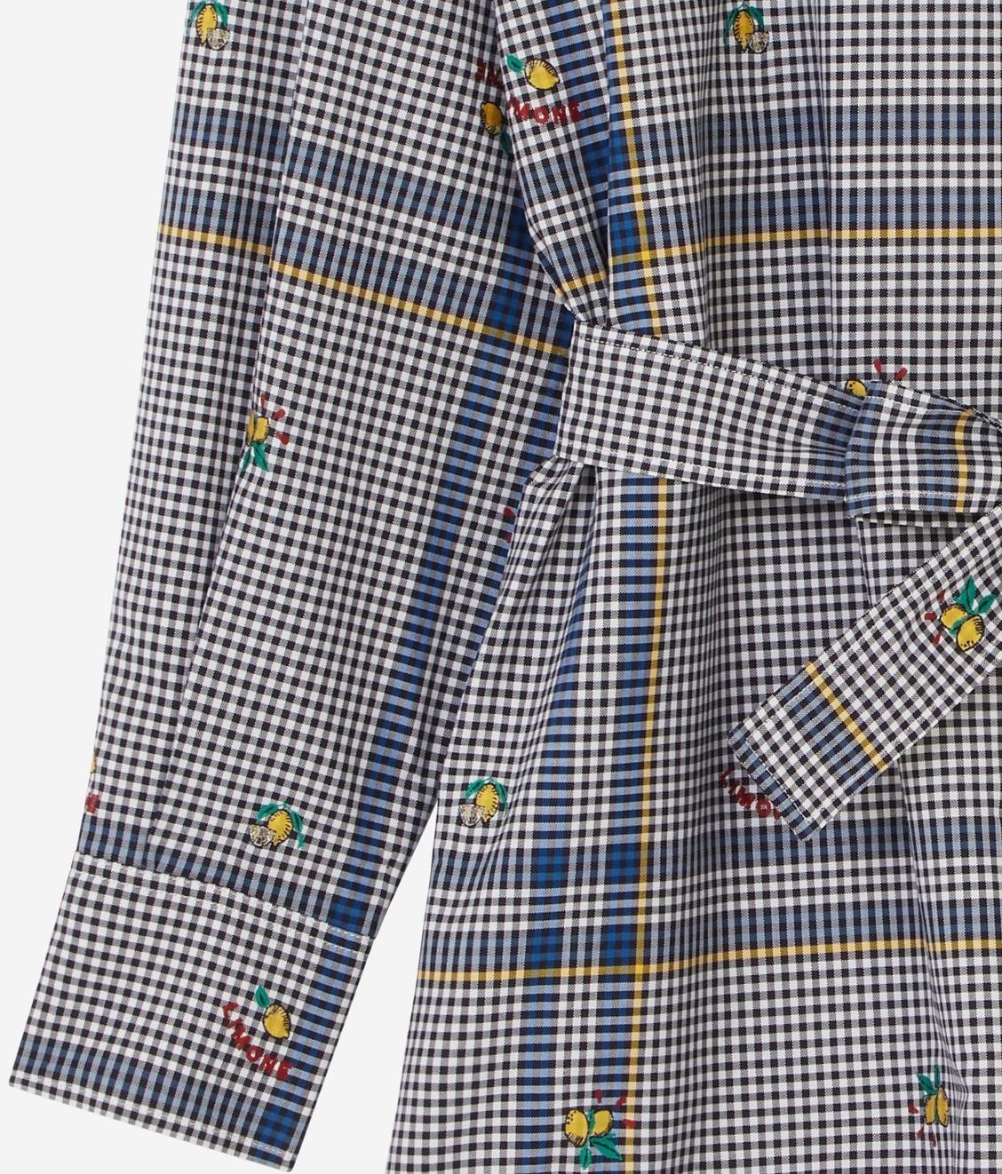 Maison Kitsune Maison Kitsune Jacquard Limone Shirt Dress