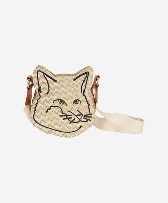 Maison Kitsune Maison Kitsune Fox Head Straw Bag
