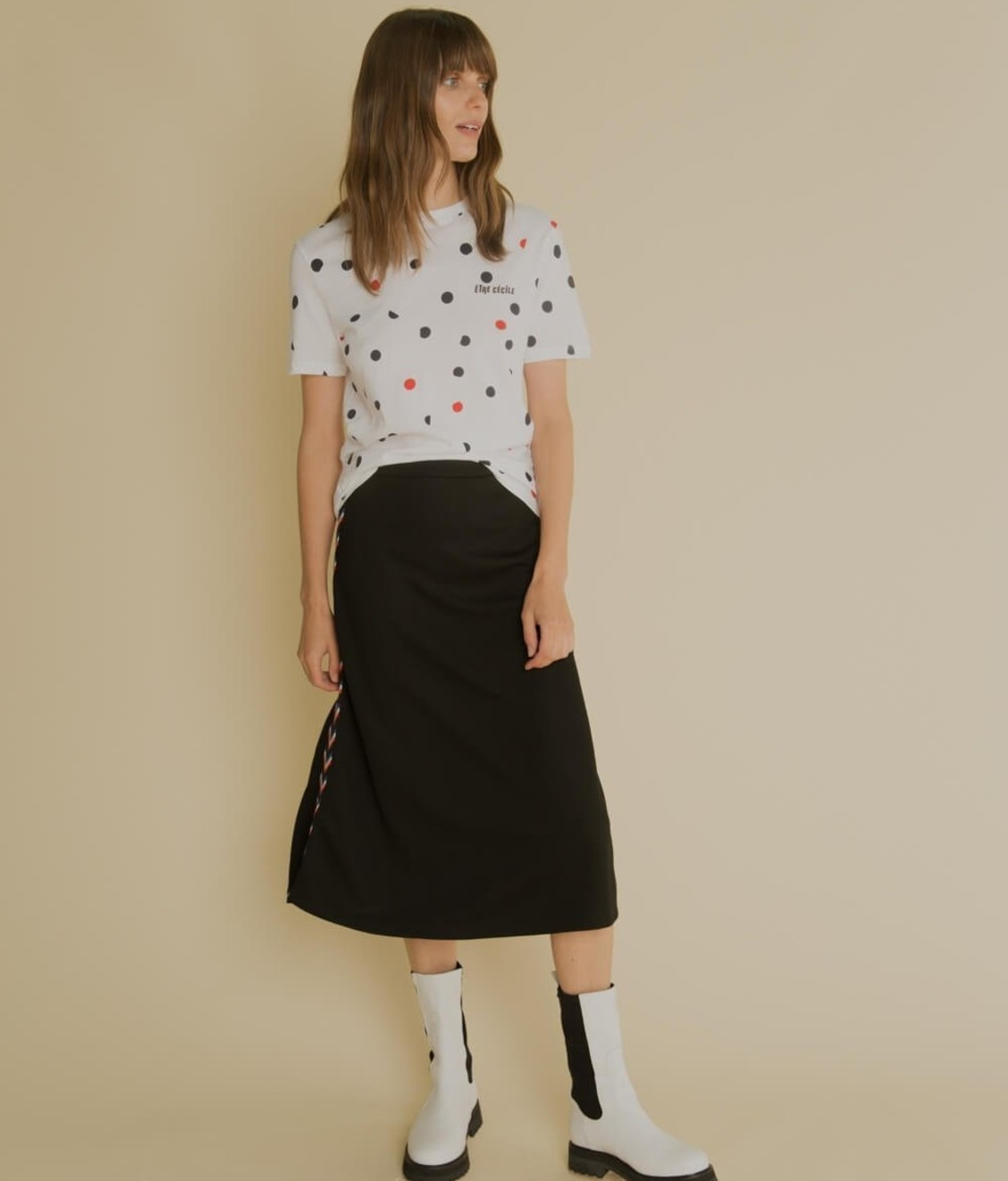 Etre Cecile Etre Cecile Dot All Over Tee White