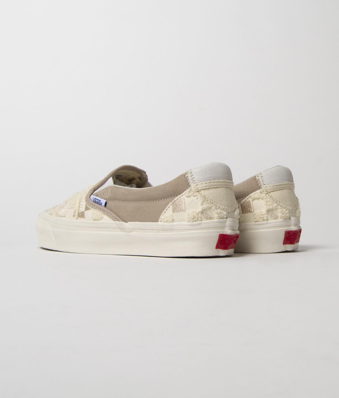 Vans Vans Vault OG Slip-On Embroidered Checkerboard Beige