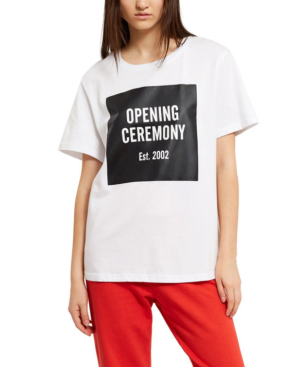 Opening Ceremony Opening Ceremony Logo Tee White