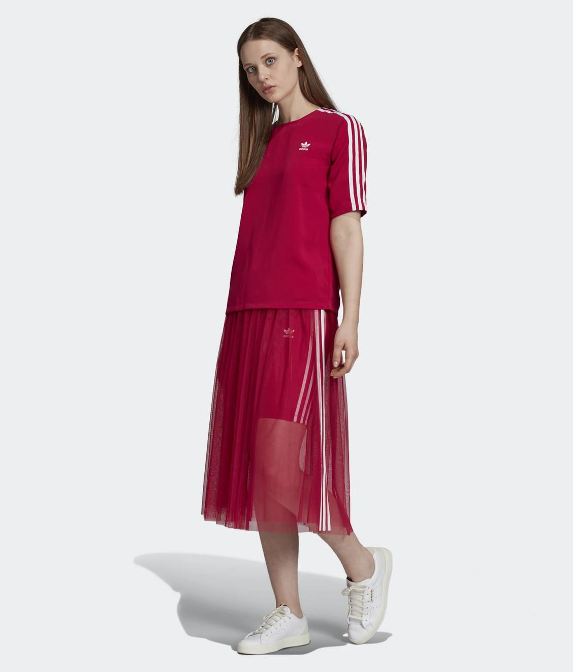 Adidas Adidas Crepe 3 Stripes Tee Pink