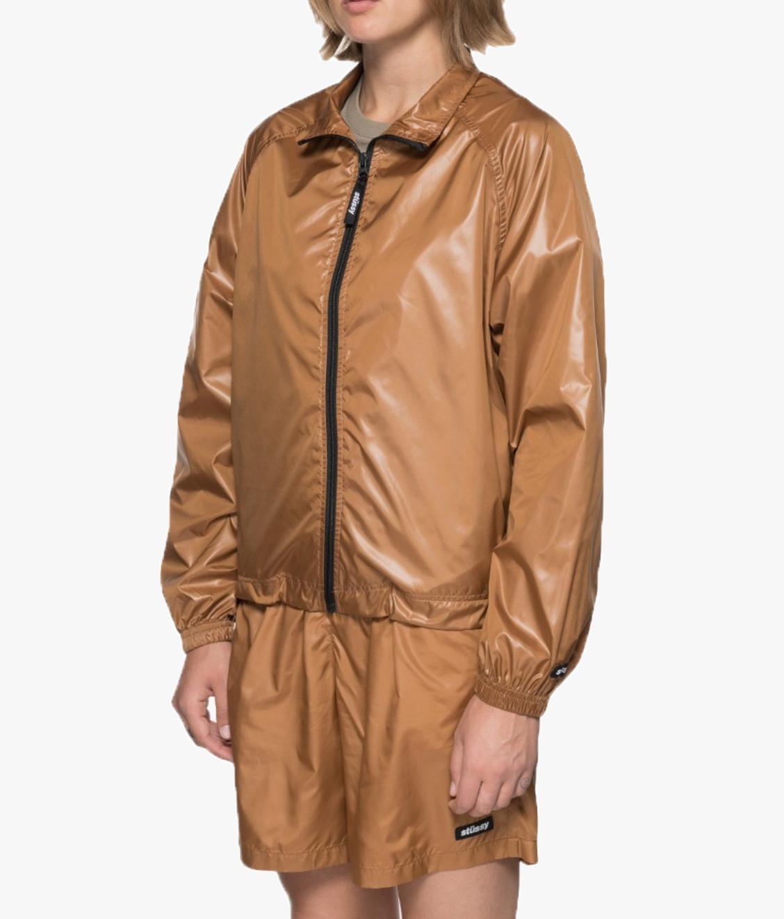 Stussy Stussy Langley Shiny Zip Jacket Tan