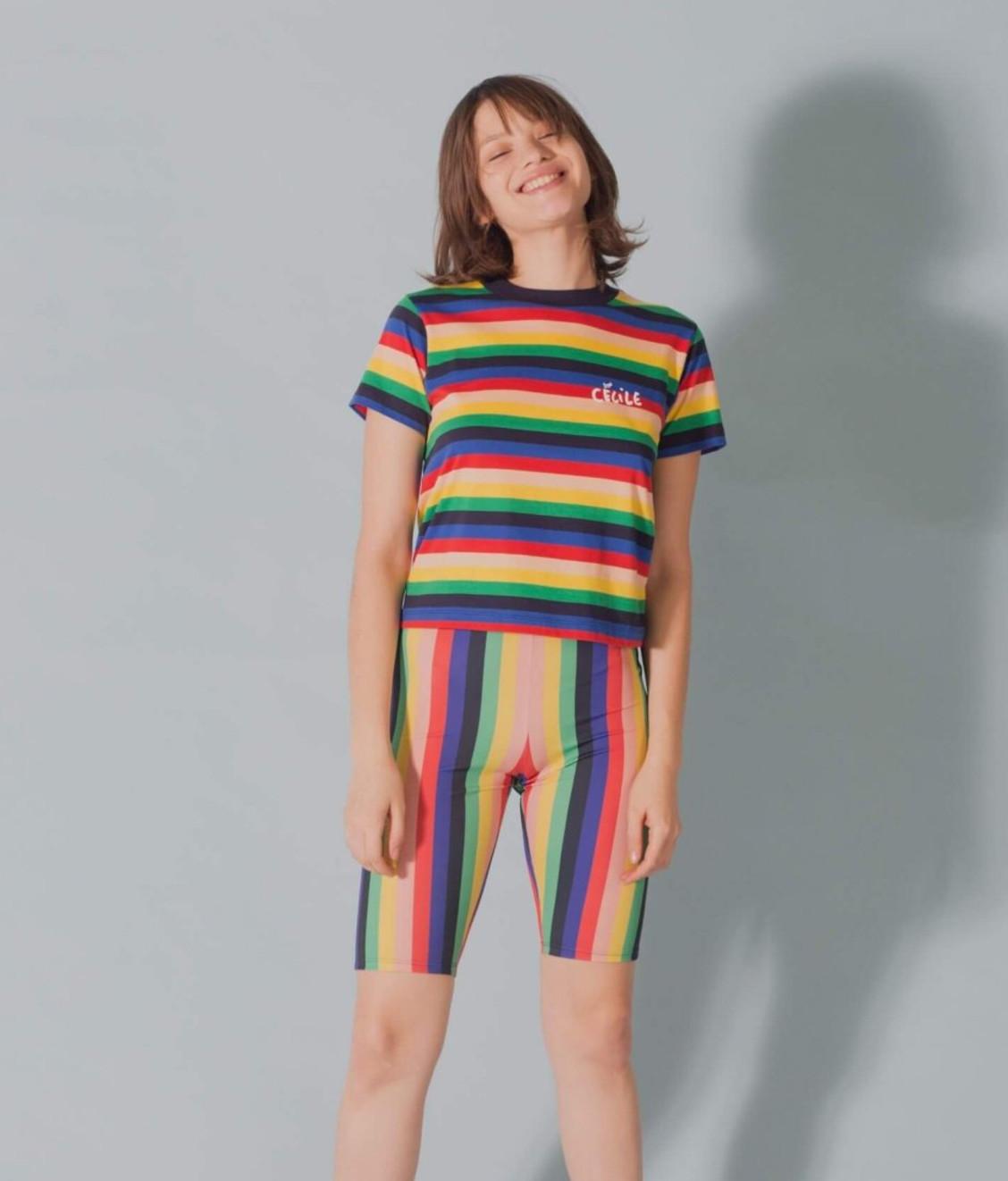 Etre Cecile Etre Cecile Rainbow Ines T-shirt