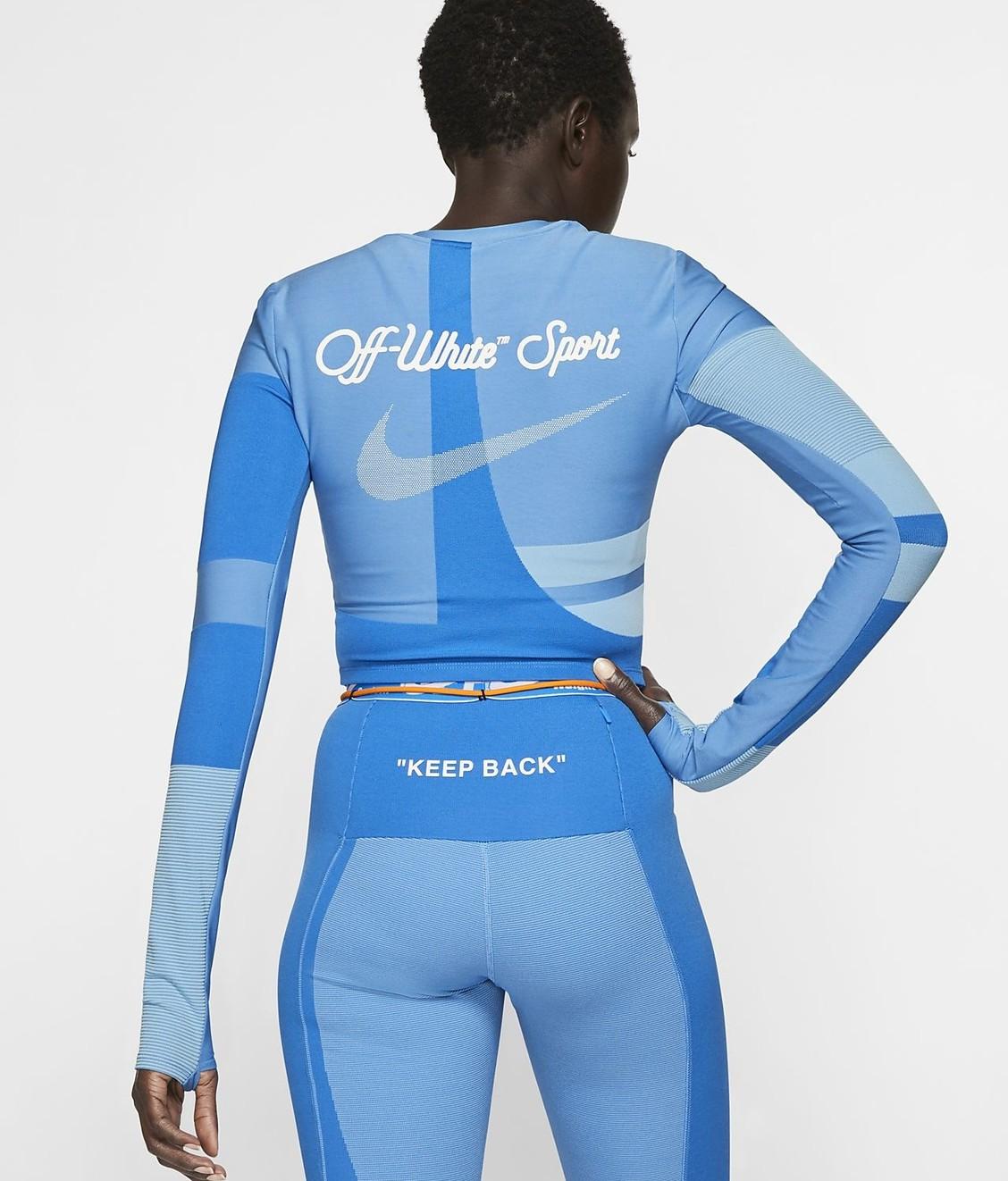 Nike Nike X Off White LS Crop Oil Blue