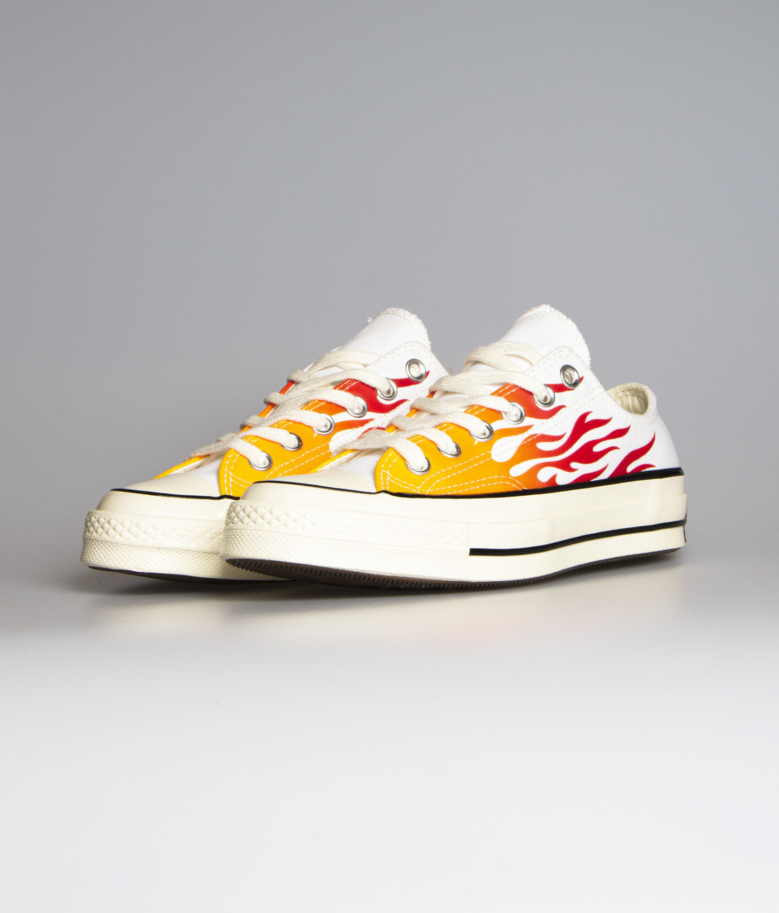 Converse Chuck 70 Ox White Enamel Red Flame