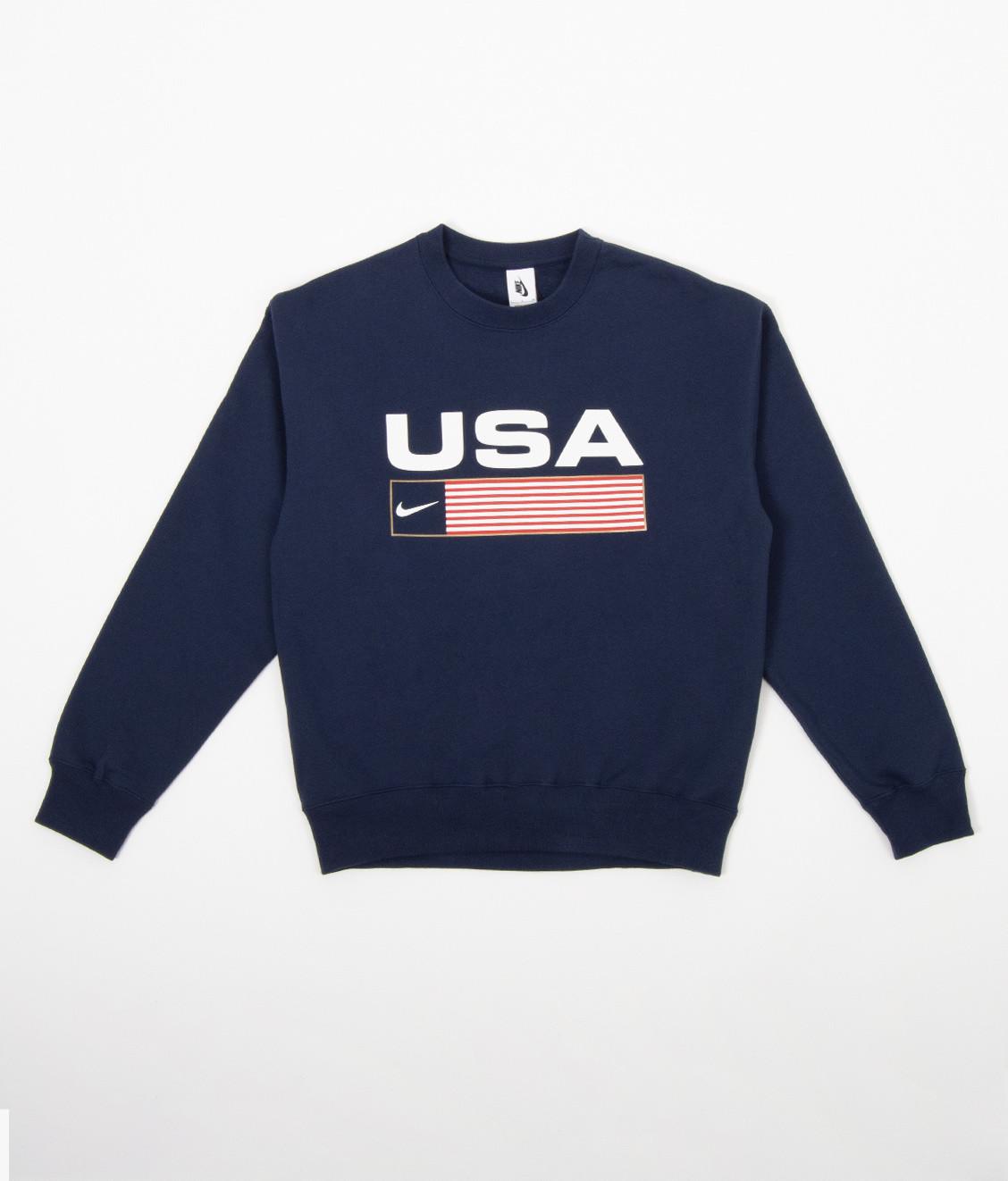 Nike Nike NRG Crew Swoosh Stripe USA Navy