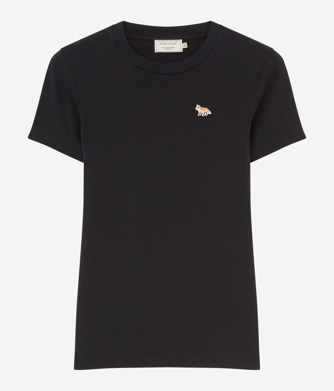 Maison Kitsune Maison Kitsune Tee Shirt Profile Fox Patch Black