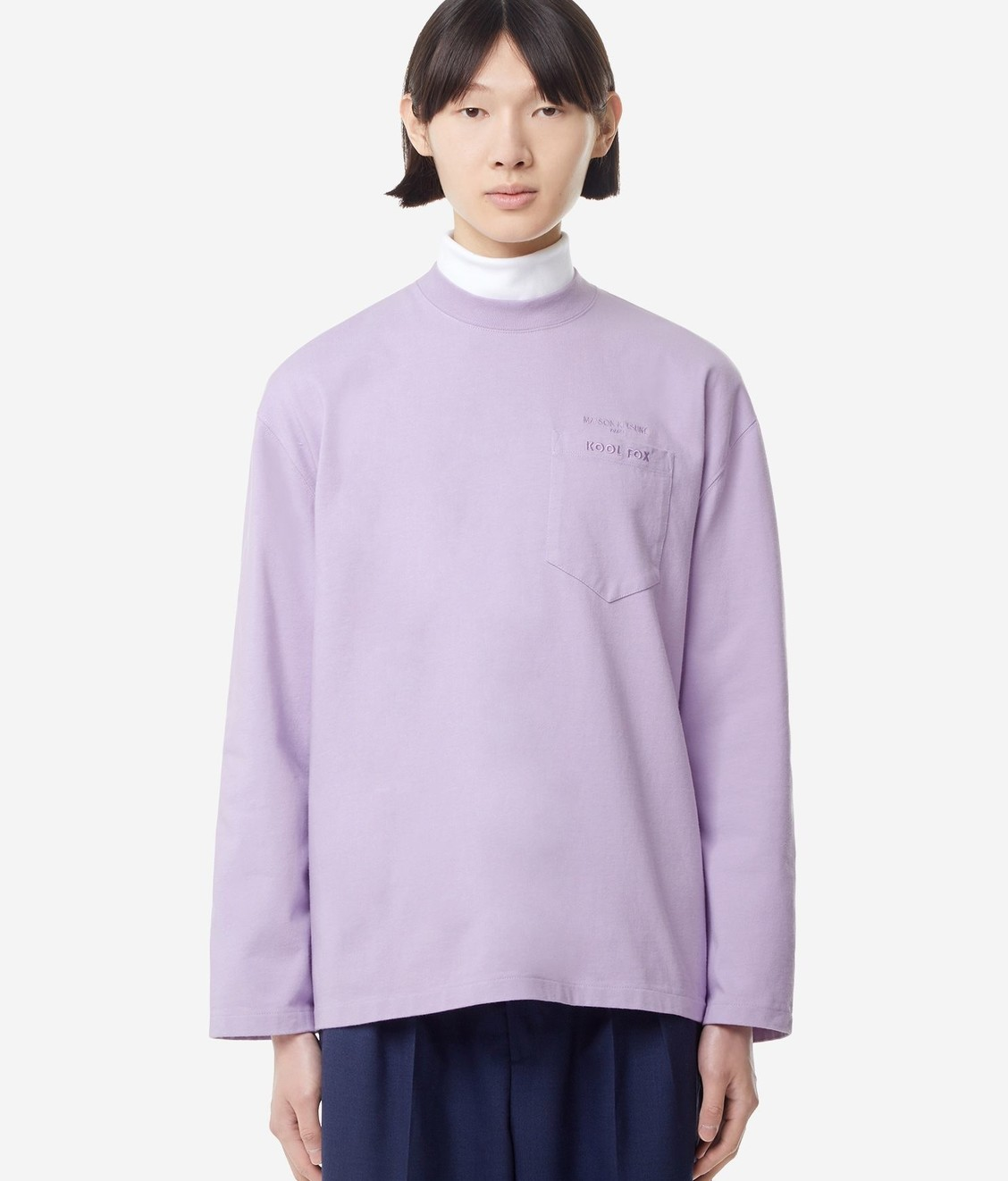 Maison Kitsune Maison Kitsune LS Oversized Shirt Lilac