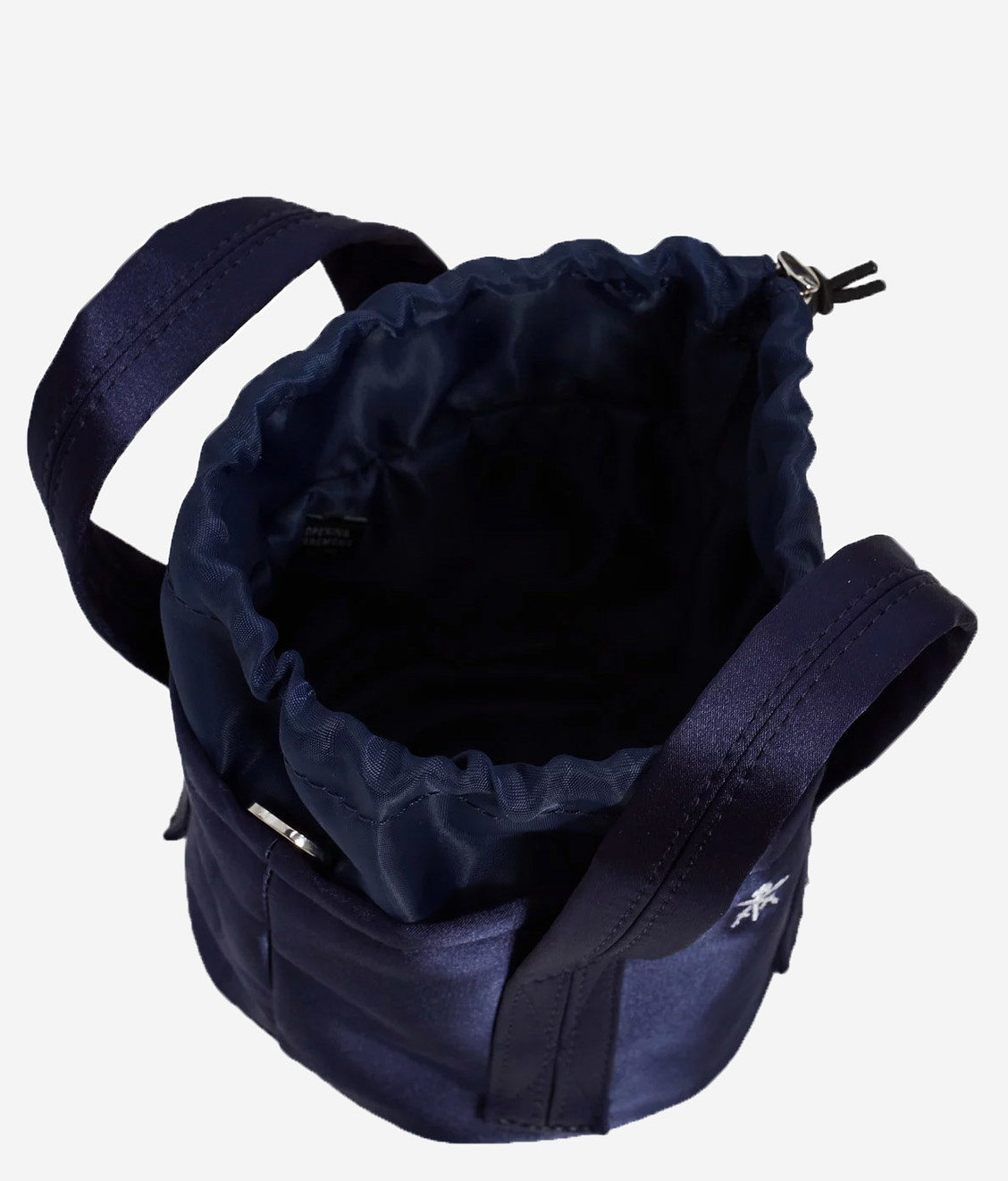 Opening Ceremony Opening Ceremony Satin Bucket Bag Navy