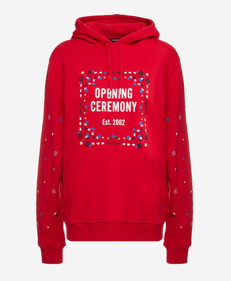 Opening Ceremony Opening Ceremony Bandana Logo Hoodie Red