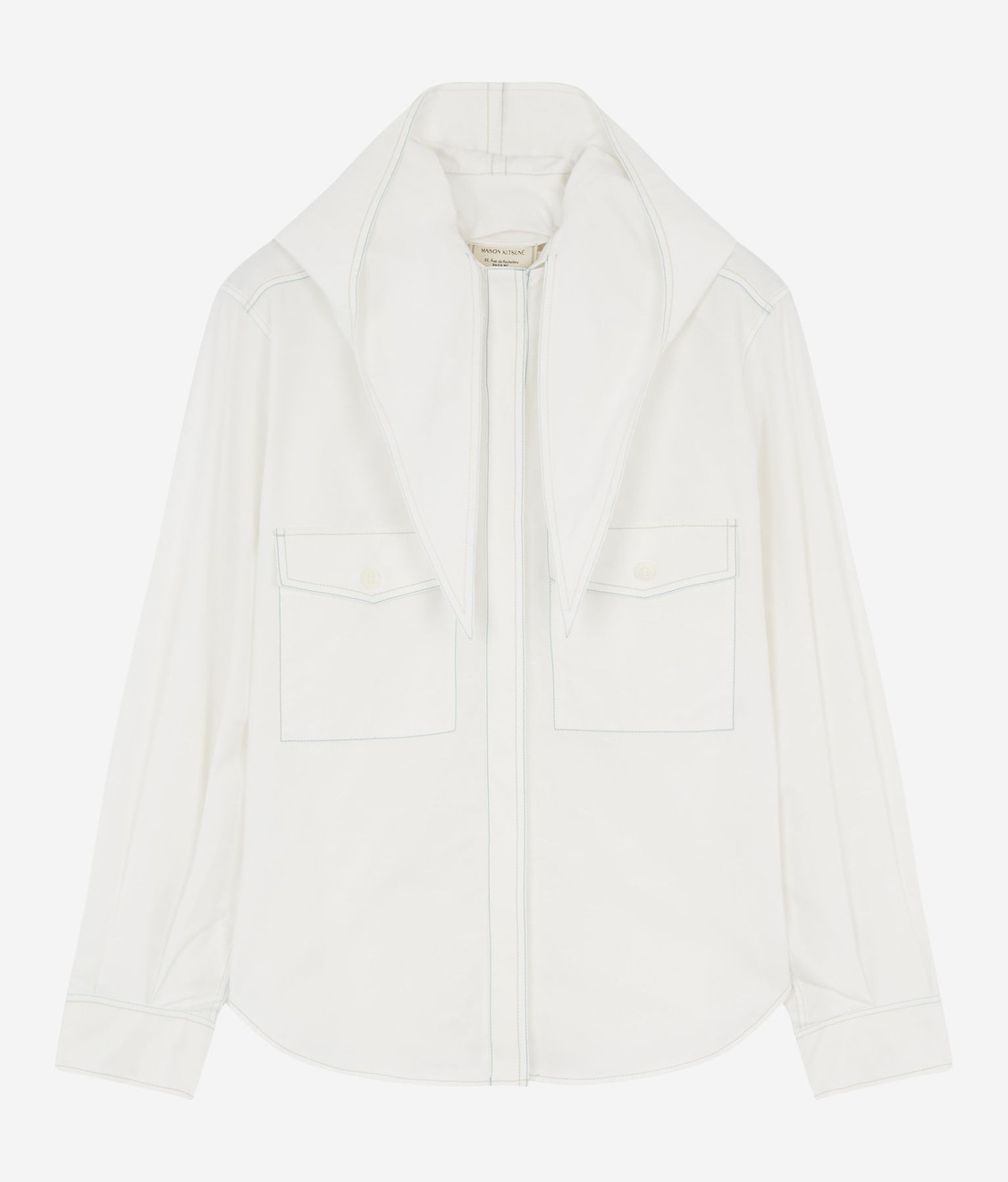 Maison Kitsune Kitsune Lavalliere Shirt Off White