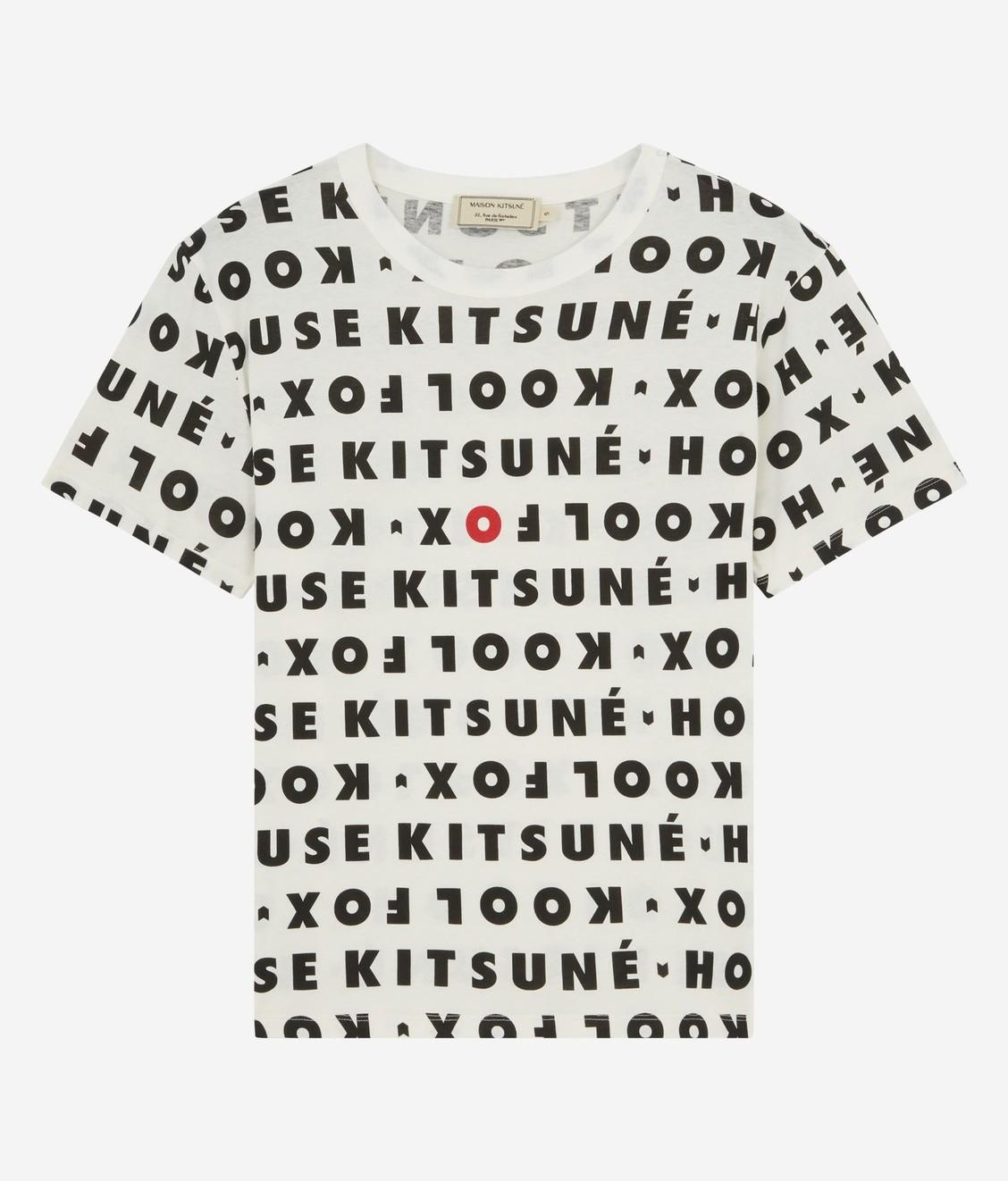 Maison Kitsune Kitsune Tee Kool Fox All-Over White Black