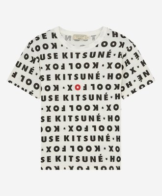 Maison Kitsune Kitsune Tee Kool Fox All-Over White Black