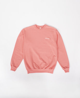 Sporty and Rich Sporty and Rich Fun Logo French Terry Crew Salmon