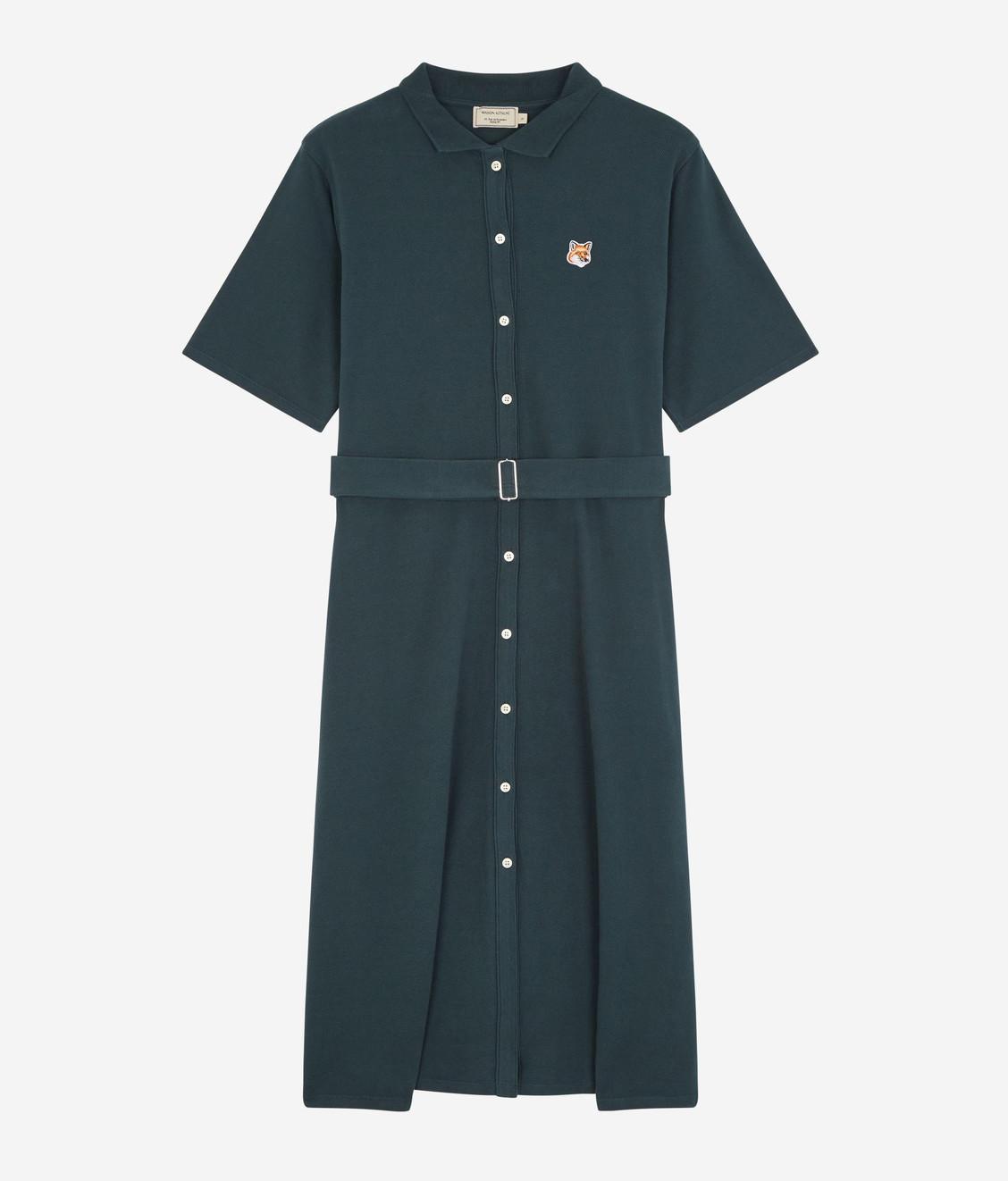 Maison Kitsune Kitsune Pique Polo Dress Forest Green