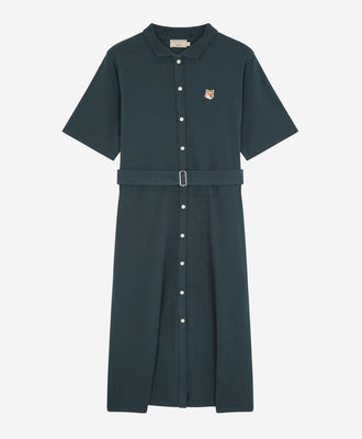 Maison Kitsune Kitsune Pique Polo Dress Forest Green