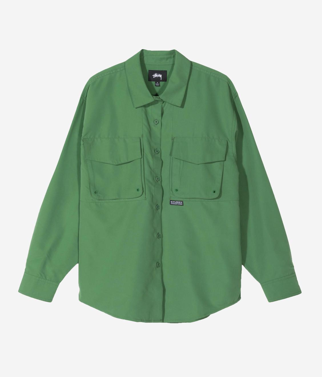 Stussy Stussy Range Outdoor LS Shirt Green