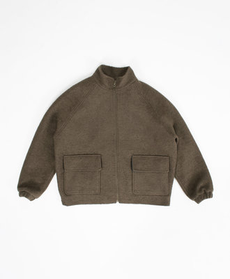NEUL Neul Shearling Blouson Jacket Khaki
