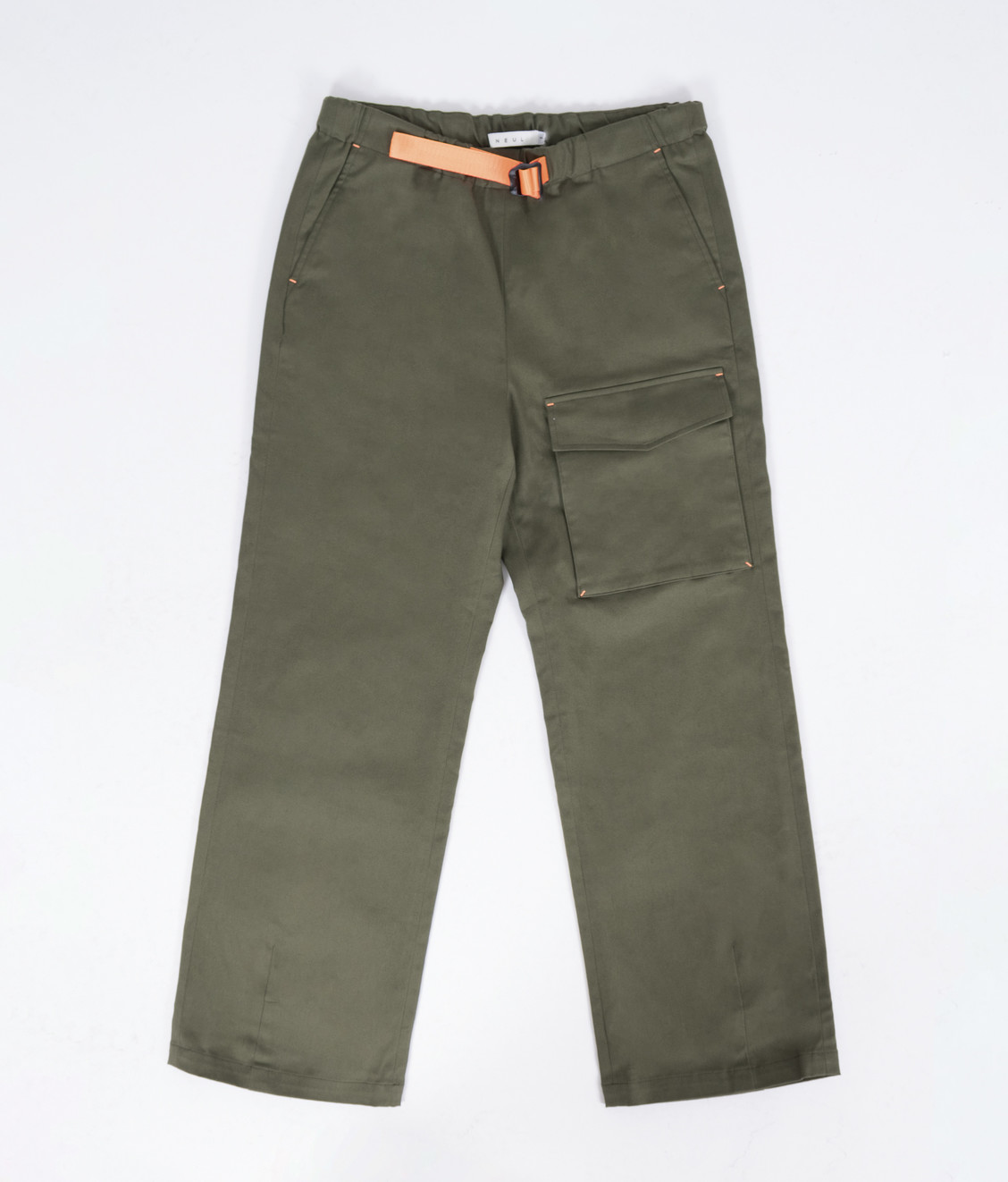 NEUL Neul Color Pointed Webbing Belt Pants Khaki