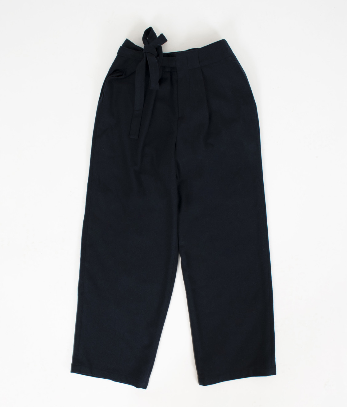 NEUL Neul Strap Wool Pants Dark Navy