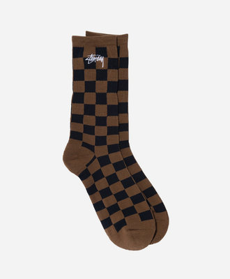 Stussy Stussy Checker Jacquard Socks Brown