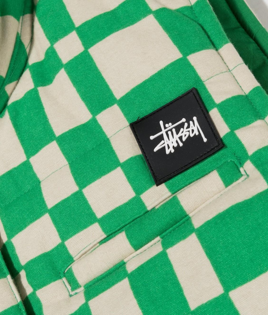 Stussy Stussy Sabi Checker Puff Vest Green