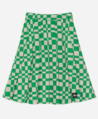 Stussy Stussy Sabi Checker Pleated Skirt Green