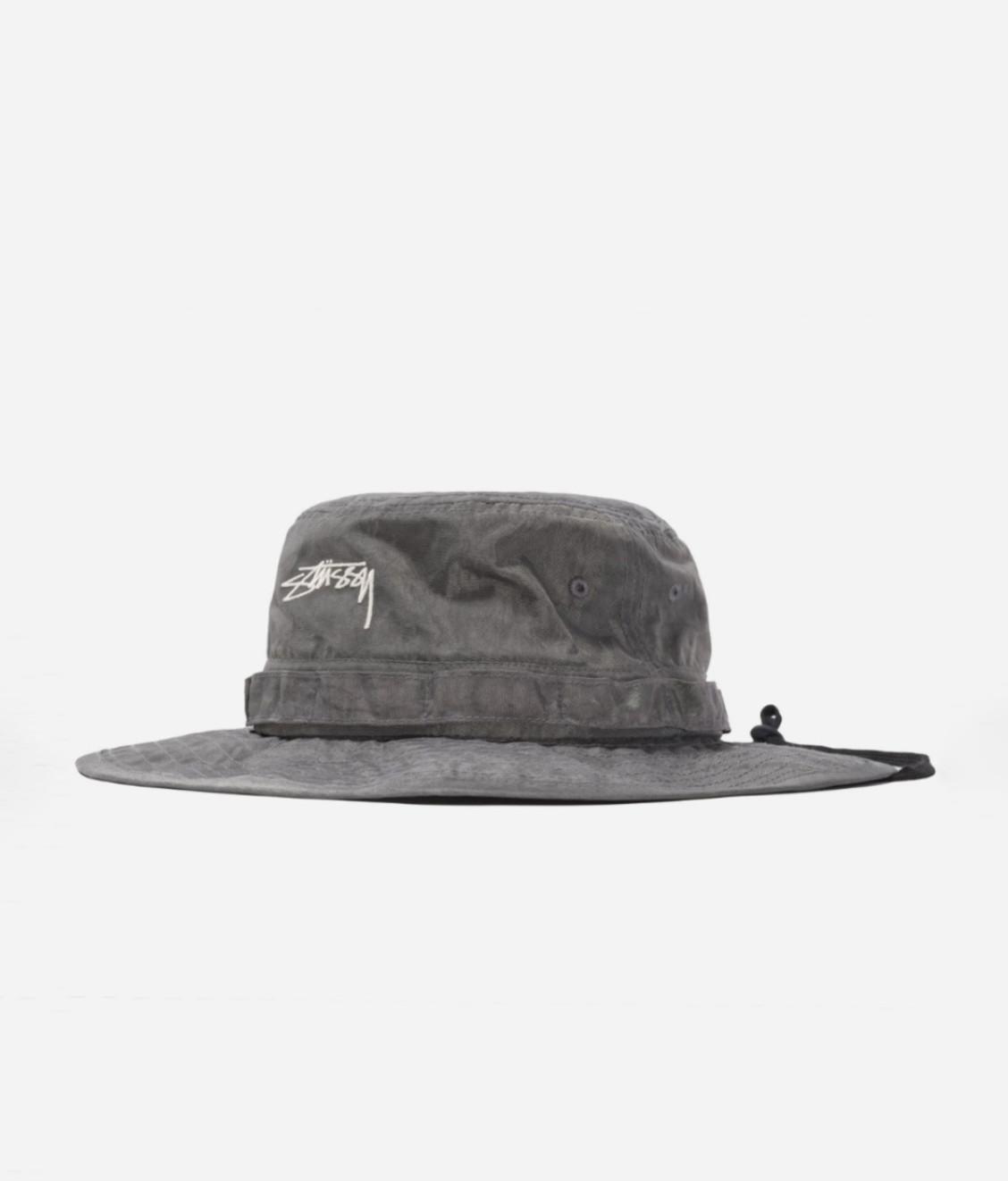 Stussy Stussy Washed Nylon Boonie Hat Black
