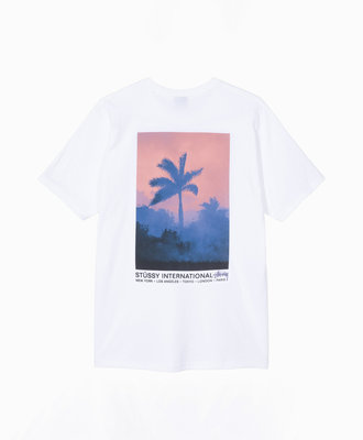 Stussy Stussy Fire Palm Tee White
