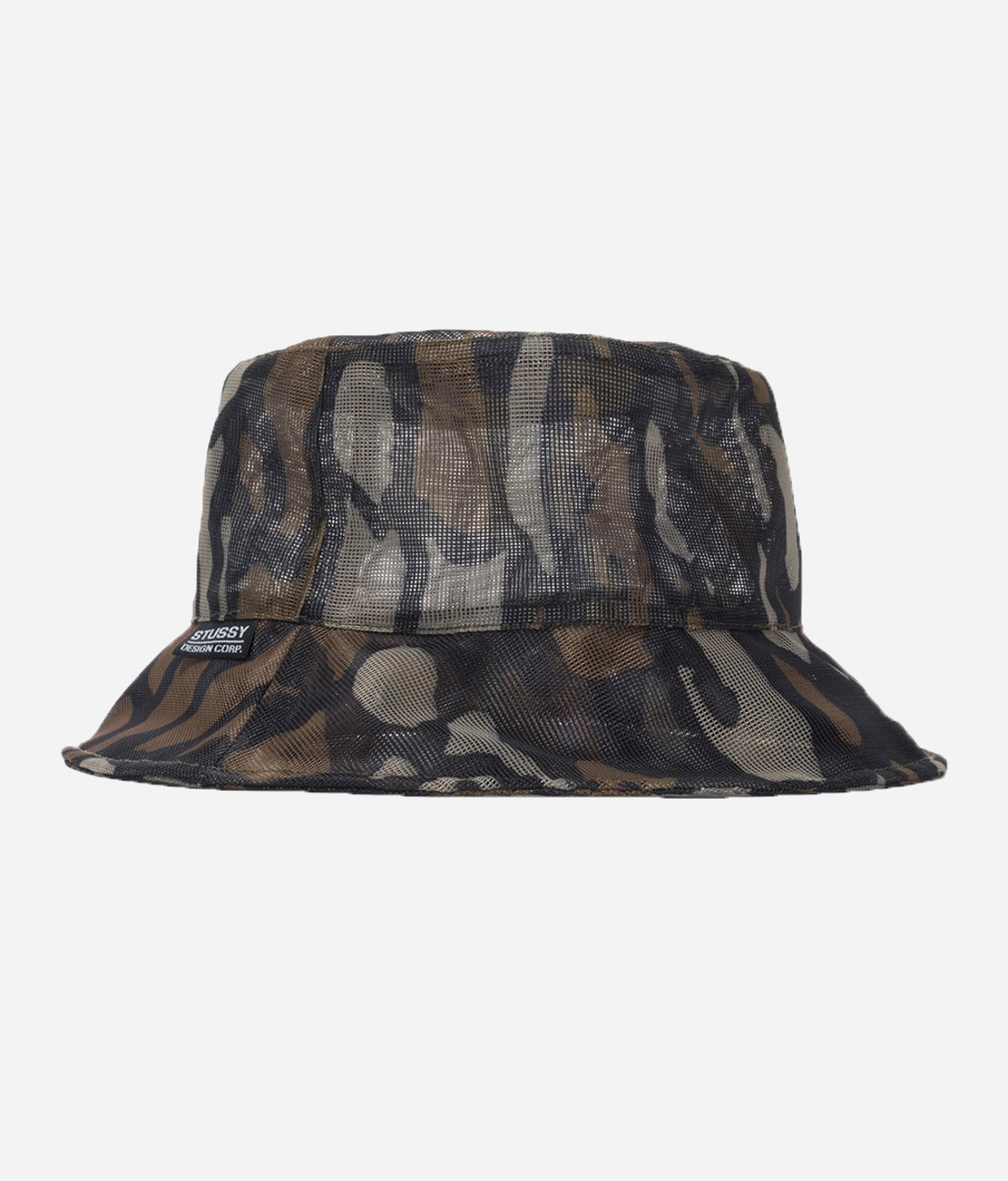 Stussy Stussy Tree Bark Mesh Bucket Hat Brown